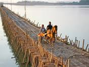 Bamboo bridge at K.Cham